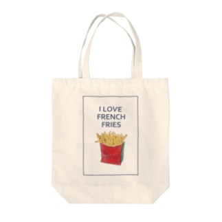I LOVE FRENCH FRIES Tote bags