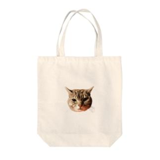 ぽろにゃん猫のシュラ Tote bags