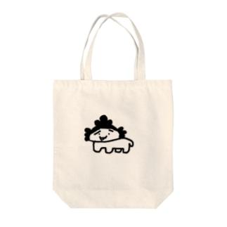 シロザエさん Tote bags