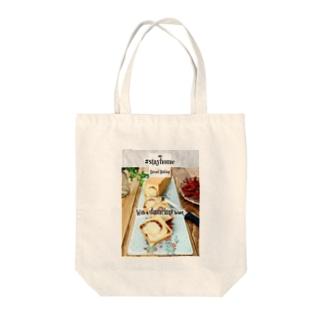 おうちじかんパン活 スリム食パン Tote bags