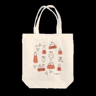 minchiinfoの虫歯ちゃんと乳歯ちゃん Tote bags