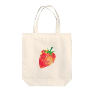 いちご① Tote bags