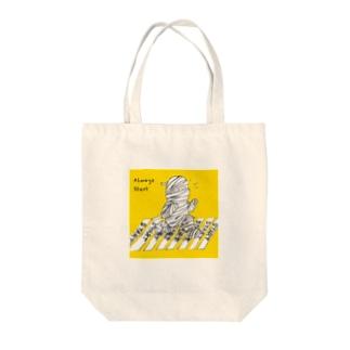 包帯娘/毎日がスタート Tote bags