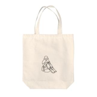 モデル気取り Tote bags