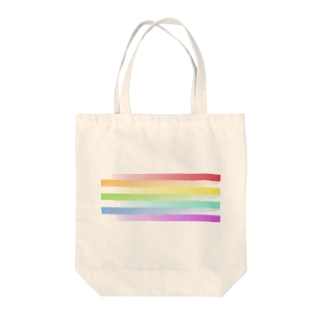 gradation-虹 Tote bags