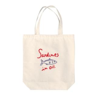 オイルサーディン  sardines in oil Tote bags