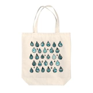 「たのしい雨」のトート トートバッグ