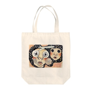 His world meet her world. Tote bags