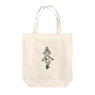 バレエ 女の子 Tote bags