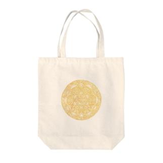 Maru ⭕ Mandala 繁栄(白) Tote bags