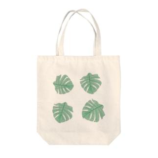 シンプルかわいいモンステラ Tote bags