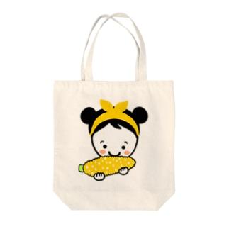 もろこしスマイルちゃん Tote bags