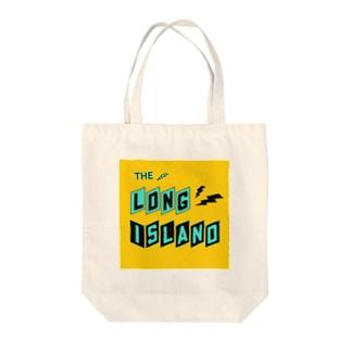 平行四辺形デザイン ターコイズ×ブラック×イエロー Tote bags