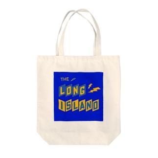 平行四辺形デザイン ネイビー×イエロー×ネイビー Tote bags