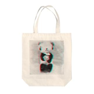 フラワーパンダ Tote bags