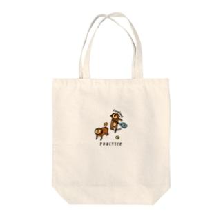 サルのフォアハンド Tote bags