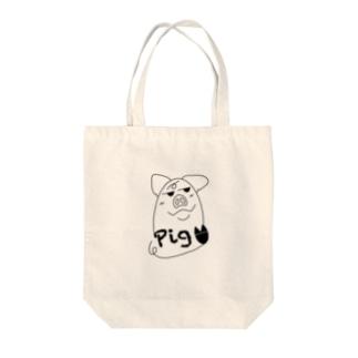 犯人はブタ〜pig〜 Tote bags