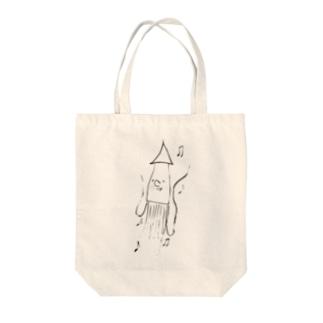 hito_mi_changのイカくん Tote bags
