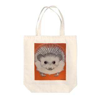キャラクタークリエーションのハリネズミ Tote bags