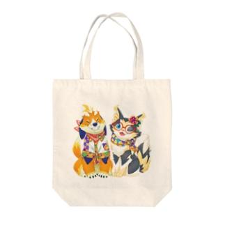 まーくん🐕ちーやん🐈@毎週土曜23:50生放送!のまーくんちーやんサマー Tote bags