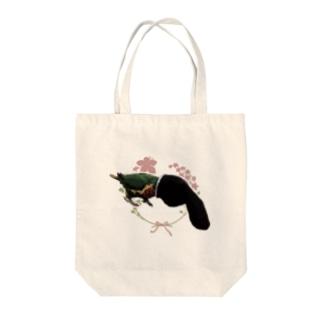 マニアックインコ(靴下オバケ) Tote bags