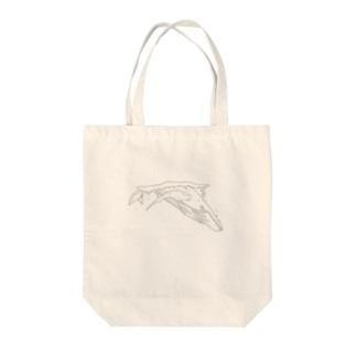 シンプルなクジラ Tote bags