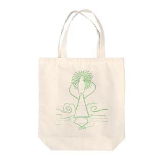 頭チリチリ考えられない君(2) Tote bags