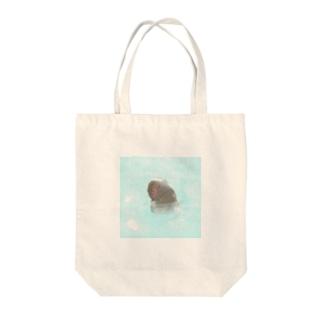 温泉おさるさん Tote bags