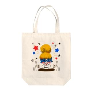 MESSENGER-GIRL3 Tote bags