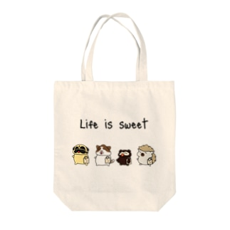 Life is sweet Tote bags