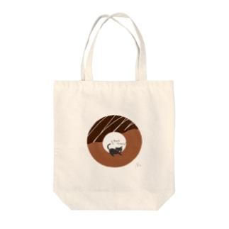 猫とドーナツ Tote bags
