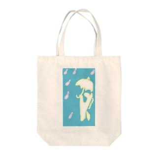 白馬、傘をさす。 トートバッグ