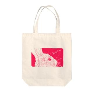 ぴんく兔 Tote bags