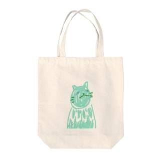 氷猫 Tote bags
