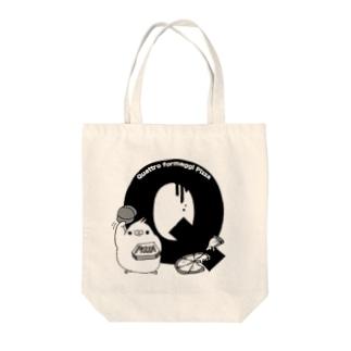 ふくよかオカメのイニシャルグッズ【Q】 Tote bags