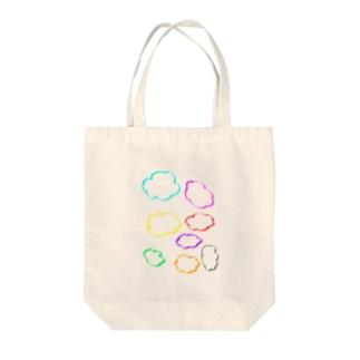 カラフル雲 Tote bags