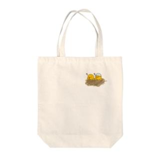 とぼけるひよこちゃん Tote bags