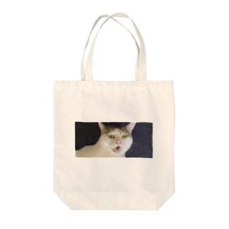 白猫オッドアイ Tote bags