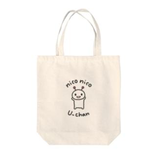 niconico U-chanのniconico U-chan / ニコニコうーちゃん Tote bags