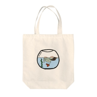 ハイジのキャンプのkanapon金魚鉢 Tote bags