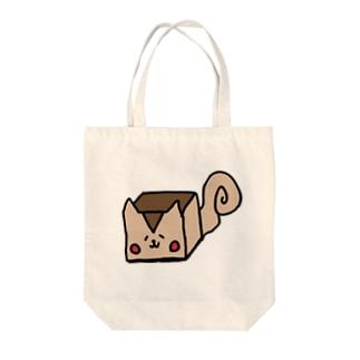 四角いリス Tote bags