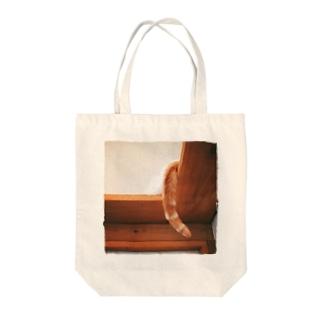 しっぽ Tote bags