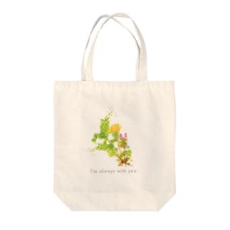 野に咲く草花の花束 Tote bags