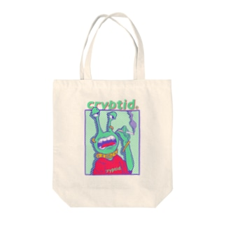 Cryptid_officialのcryptid smoke alien Tote bags