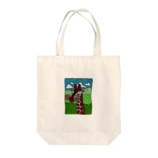 キリンの肖像 Tote bags