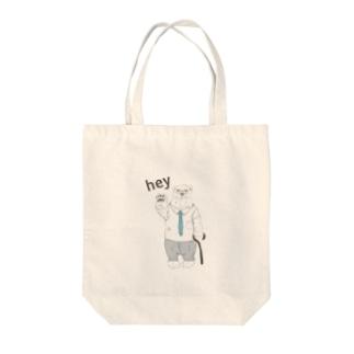 シロクマ先生 Tote bags