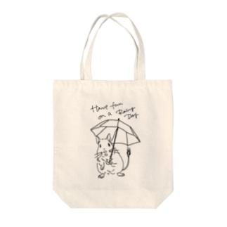 kanako-mikanのHave fun on a Rainy day Tote bags