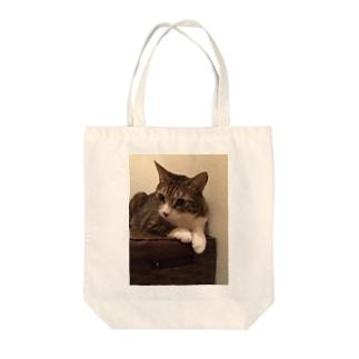 らいちくん Tote bags