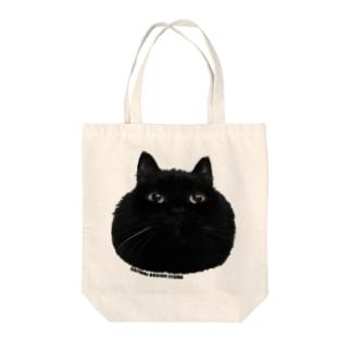 SAIWAI DESIGN STOREのまんまるクロネコ Tote bags