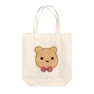 Soragasukiのふわふわのくま Tote bags